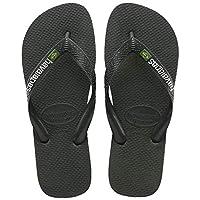 Havaianas Brasil Logo, Unisex Adults' Slippers, Black, 33/34 EU