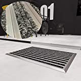 West&East Schmutzfangmatte Grau 40 x 60 cm Aluminium Fußabtreter Sauberlaufmatte Fußmatte