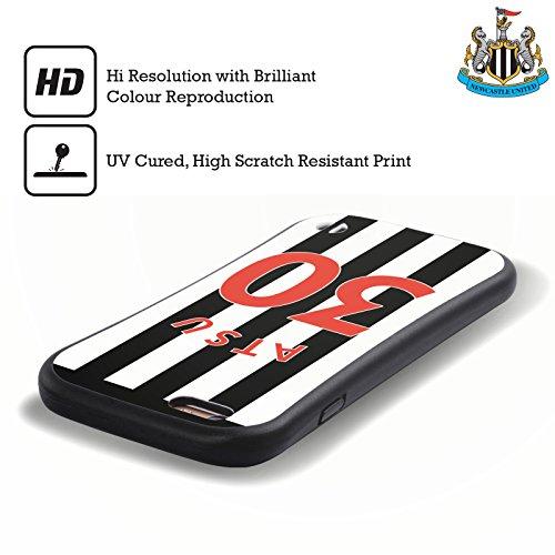 Ufficiale Newcastle United FC NUFC Aleksandar Mitrovic 2017/18 Giocatori Home Kit Gruppo 2 Case Ibrida per Apple iPhone 5 / 5s / SE Christian Atsu