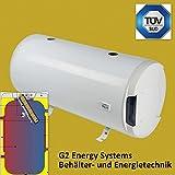 200 Liter L Warmwasserspeicher Boiler horizontal waagerecht Doppelmantel Wärmetauscher