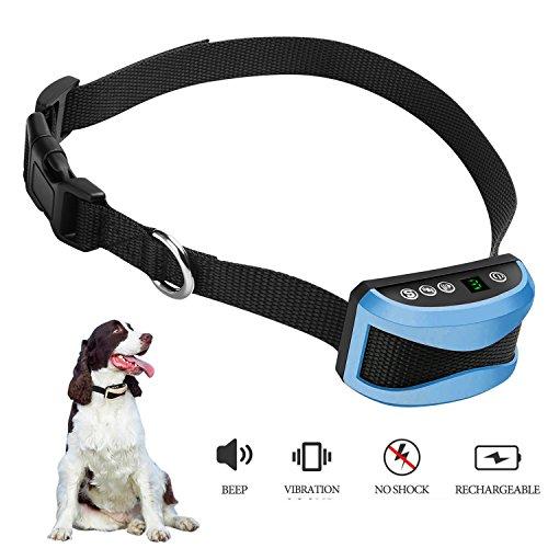ZRYstore Digital Anti Bark Dog Training collare con suono e vibrazioni-resistente all'acqua e ricaricabile-adatto per cani 15-150lbs con 7 vibrazioni...