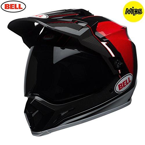 Bell Cascos MX-9Adventure MIPS, Berma negro/blanco/rojo, talla XL