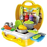 JVM Ultimate Kid's Chef's Bring Along Kitchen Cooking Suitcase Set (26 Pieces)