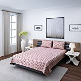 eCraftIndia Floral Cotton Double Bedshee...