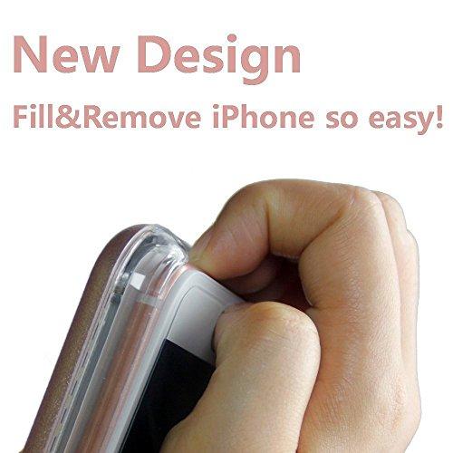 """Selfie Licht iPhoneHülle, 5 Blitzmodi Licht Beleuchtet Selfie Handyhülle, LED Dimmbare Hülle für iPhone 6 / 6s 4.7"""" Schwarz Gold"""