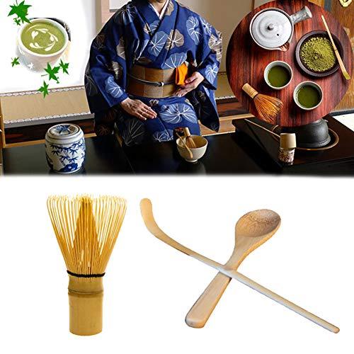 Tolyneil Japanisches Teeset 3-teilig, Matcha-Schneebesen, traditionelle Schaufel, Teelöffel, das perfekte Matcha-Teeset