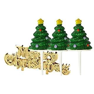 Christmas Tree Cake Picks and Motto