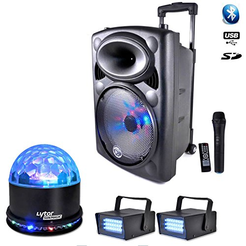 Pack picky12 700 W Mobile + 2 Strobes + sunmagic LED RGB 700 Mobile
