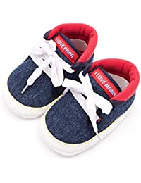 Infano Laces Style Love Print Navy Blue Color Baby Shoes New (6-12 Months,1 Pair)