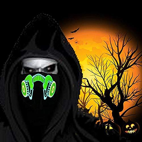 Kostüm Besten Rave - QHJ Halloween Kostüm Party Maske LED Halloween Ostern Rave Maske Leucht Kostüm Maske Osterdeko Helloween Kostüm Party (D)