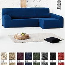 Funda de Sofá Chaise Longue Elástica Modelo Montblanc, Color BEIGE (C/01), con Brazo DERECHO (Mirándolo de frente)