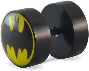 Sarah Black Batman Single Stud Earring for Men
