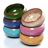 Sensualmax Multicolor Mini Round Ceramic Juicy Flower Pots Vase Container For Small Bonsai Pots (Only 1 Pc)
