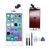 iPhone 5 LCD Display Touchscreen Reparaturset Ersatz Bildschirm mit Werkzeug(Weiß)