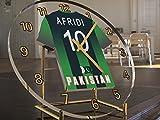 International Cricket Jersey Desktop Uhren–Jeder Name, beliebige, jedes Team, kostenlose Personalisierung. Pakistan International Cricket Team