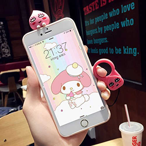 iPhone 6 Plus Cover, Bonice iPhone 6S Plus Custodia (5.5), Ultra Slim Thin Morbido TPU Clear Trasparente Animale Cat Case Rabbit -Cover-01