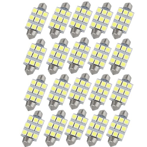 20 x 41 mm 5050 SMD 9 LED BLANC VOITURE Dome 569 212-2 interne