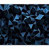 murando Papier peint intissé 350x256 cm Décoration Murale XXL Poster Tableaux Muraux Tapisserie Photo Trompe l'oeil3D optique noir bleu f-C-0113-a-d