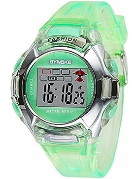 Children's electronic watch luminous-B