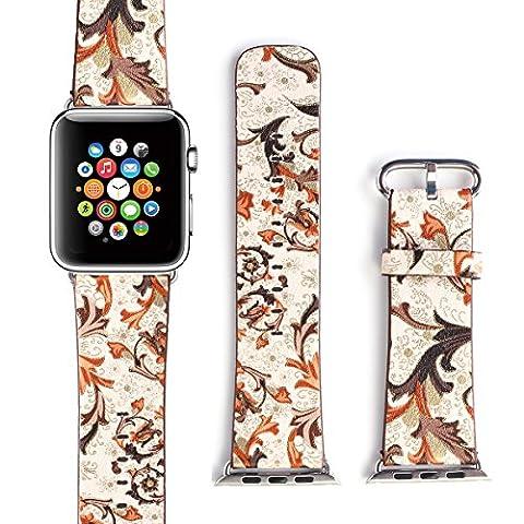 X-cool For Apple Watch ArmBand 38mm mit Metall Schließe Weiches Leder Saison Armband für Apple Watch Series 3 /2/1 (Herbst-38)