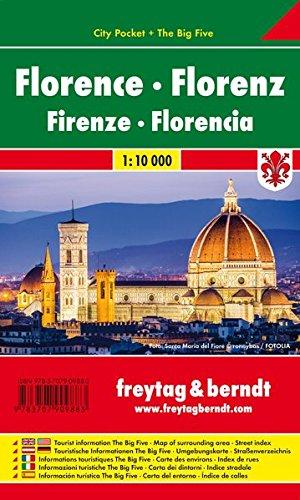 Florenz, Stadtplan 1:10.000, City Pocket + The Big Five, wasserfest, freytag & berndt Stadtpläne
