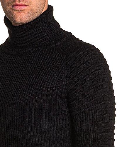 BLZ jeans - Pullover Rollkragen schwarz Mann Bünden Schwarz
