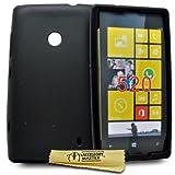 Accessory Master - Funda para Nokia Lumia N520 (silicona), color negro