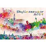 Skylinezauber II · DIN A4 · Premium Kalender 2019 · USA · Asien · Kanada · Europa · Skyline · Stadt · Großstadt · Kunst · Malerei · Aquarell · Geschenk Set mit 1 Grußkarte und 1 Weihnachtskarte · Edition Seelenzauber
