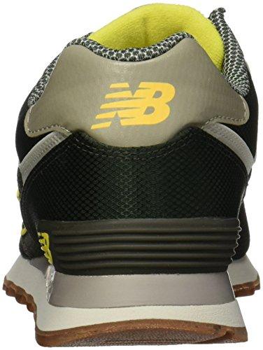 New Balance WL574VV1, Baskets Basses Homme Vert (DARK GREEN)