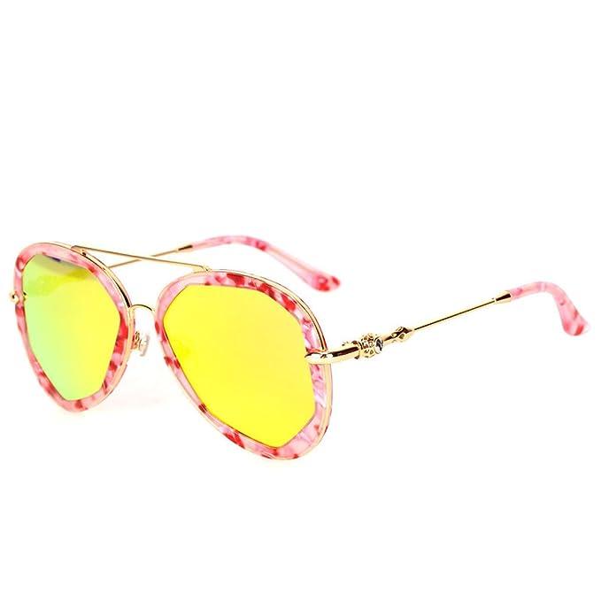 Wkaijc Polygon Farbfilm Mode Individualität Kreativität Mode Freizeit Reflexion Sonnenbrillen Sonnenbrillen ,A