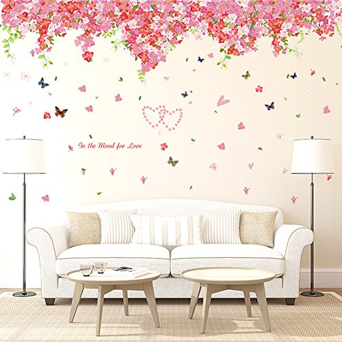 wallpark-dulce-romntico-cereza-florecimiento-flores-mariposas-desmontable-pegatinas-de-pared-etiquet