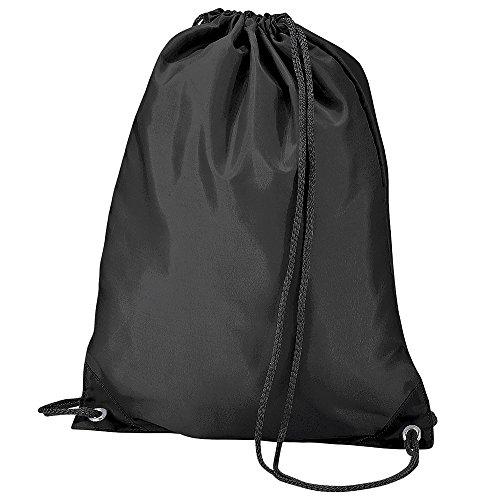 BagBase Budget Turnbeutel, wasserabweisend, 11 Liter One Size,Schwarz