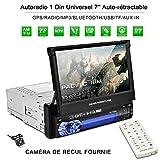 Autoradio Schermo Estraibile GPS Autoradio Bluetooth 1 Din 7 pollici 1080p Rad...