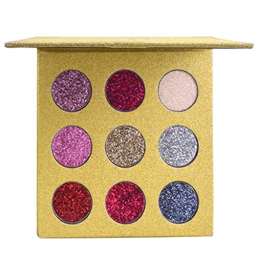 Luckhome Farben Schimmer Matt Mineral Pigment Lidschatten Palette Nude Beauty Make up 9Color Eyeshadow Palette Blush Lip Makeup Cosmetic Set Kit ()