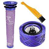 POWER-XWT Post Motor Filtro DC62 e filtri pre-filtro HEPA Kit di ricambio per filtri Dyson V6 DY-96566101 DY-96747801 Aspirapolvere senza fili per animali (con spazzola di pulizia gratuita)