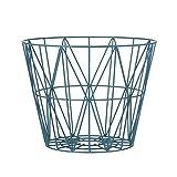 Wire Basket Korb Ferm Living, Größe / Farbe: medium  50 x 40 cm / petrol