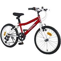 """Moma Bikes Bicicleta Infantil 20"""" SHIMANDO 7V, Rojo, Unic Size"""
