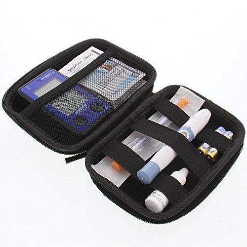 Tasche für Insulinspritzen und Zubehör Reisetasche Schutzhülle Schwarz