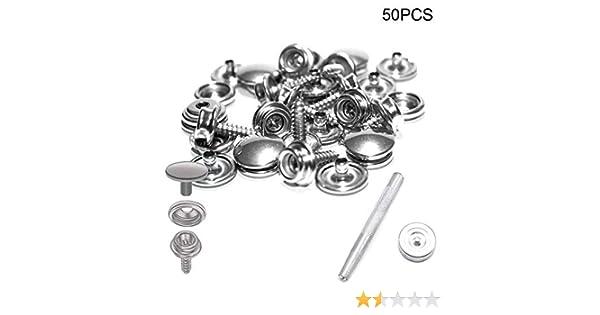 50Pcs bouton poussoir Set Snap Boutons Kit Avec Installation Outil pour le camping à coudre