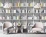 BZDHWWH Benutzerdefinierte Tapete Wandbild Buch Bibliothek Bücherregal Magazin Regal Moderne Kunst Wandmalerei Wohnzimmer Studie 3D Wallpaper,220cm (H) x 330cm (W)