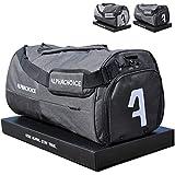 Alphachoice Sporttasche mit Schuhfach 43L für Herren & Damen, Fitnesstasche - Reisetasche groß mit vielen Fächern, 55cm x 28cm x 28cm (Black & White)
