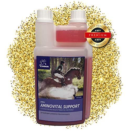 EMMA ♥ Aminosäure & Vitamine für Pferde I Pferdefutter unterstützt Muskelaufbau & Muskelregeneration I flüssiges Zusatzfutter I B-Vitamine Leistung & Muskulatur 1 L