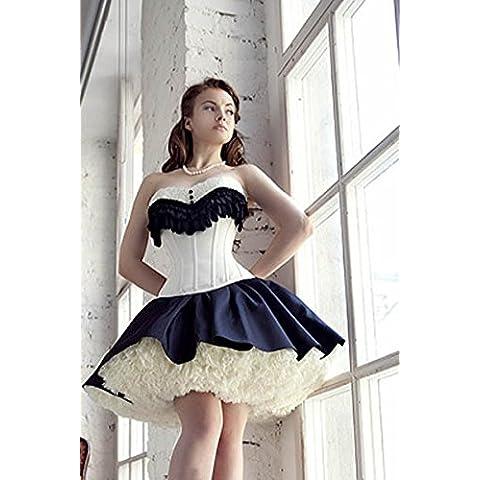 Corsetto di corsetto Royal bellezza corpo gilet Super fata principessa Europa e Corsetti , white , l