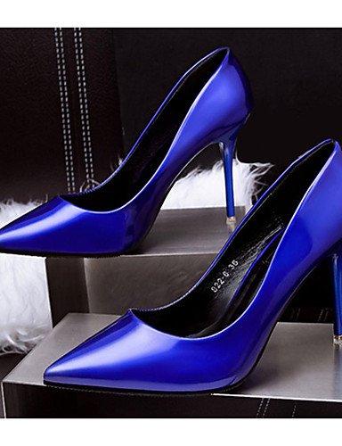 WSS 2016 Chaussures Femme-Décontracté-Bleu / Rouge / Argent / Or-Gros Talon-Talons-Talons-Laine synthétique silver-us5.5 / eu36 / uk3.5 / cn35