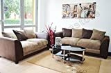 Best Sofas - Dylan Byron Brown and Beige Fabric Sofa Settee Review