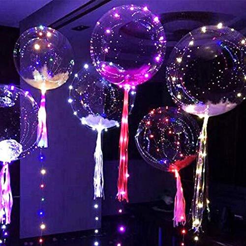 ium Balloon LED 13 Zoll Bobo Ballon Blinklichter für Geburtstag Hochzeit Weihnachten Party Dekoratiob, füllung mit Helium, Nacht Party Supplies (24 Zoll) ()