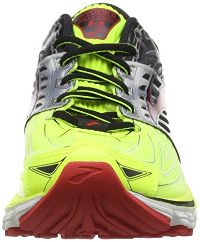 Brooks Glycerin 14, Chaussures de Running Entrainement Homme Multicolore (Nightlife/Black/High Risk Red)