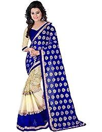 Regalia Ethnic Chiffon Saree (Re2016_Blue)