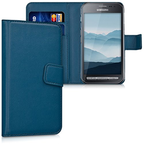 kwmobile Samsung Galaxy Xcover 3 Hülle - Kunstleder Wallet Case für Samsung Galaxy Xcover 3 mit Kartenfächern und Stand