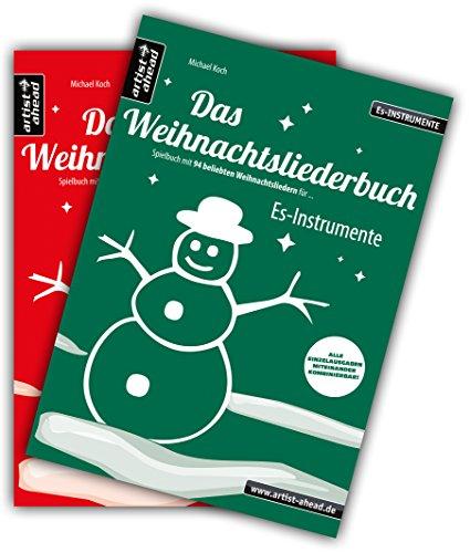 Saxophon Tuba (Das Weihnachtsliederbuch-Set: 2 Spielbücher mit 94 beliebten Weihnachtsliedern für Es-Instrumente (z. B. für Altsaxophon, Tuba) & Klavierbegleitung (mit Melodiestimme in C). Songbook. Musiknoten.)